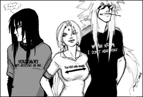 The Pic that Inspired this Fic...Young Sannin in T-shirts...yum.