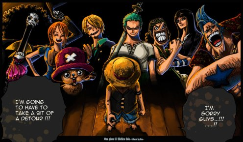 Just think of Kishi as Luffy and the I guess Chopper portrays the correct expression of his fans. 0_0